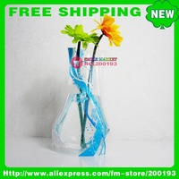 FREE SHIPPING 100PCS/LOT ASSORTED COLOR&amp;amp;STYLE MORE THAN 150 STYLES HOUSEWARE PROMOTION GIFTS B17-2 PLASTIC FOLDABLE FLOWER VASE