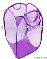 free shipping foldable laundry basket/mesh laundry basket/Pop-Up HAMPER