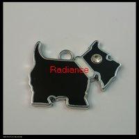 100pcs/lot 21x15mm alloy enamel pendants charms FREE SHIPPING wholesale(scottie dog)