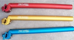 NEW TRUVATIV Bicycle Seatpost 27.2/30.8/31.6*350mm Mountain Bike MTB Red/Blue/Golden 280g(China (Mainland))
