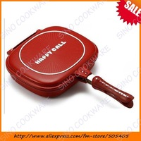 "Happy call,  fry pan, non-stick pan, Handy Frying Pan, Double Grill Pan""Christmas gift"""