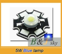 5W blue, high power LED chip,led lamp,with heatsink,aluminum plate,fishing lamp,wild fishing lamp