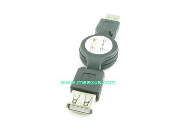 Free shipping--High quality retractable usb male to female extension cable 100pcs/lot(REC-3)