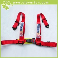 "2"" JDM 4 Point Racing Sport Harness Seat Belt in RED"