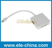 free shipping 3 in 1 Mini Displayport to HDMI/DVI/DP adapter