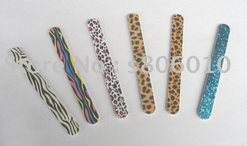 Colorful Nail File / Ellipse Sand File / Manicure File / DoubleSide Use Nail File / Individual OPP Bag Pack