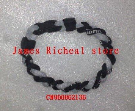 O envio gratuito de 3 corda pulseira tornado, pulseira de 3 cordas trançadas, germânio e titânio colares 50pcs/lot(China (Mainland))