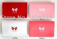 100pcs/lot Cute Loverly Butterfly Bow PVC Passbook Holder Deposit book Case Bank book Holder