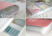 50pcs/lot Cute Loverly Butterfly Bow PVC Passbook Holder Deposit book Case Bank book Holder