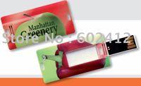 Hotselling Mini credit card usb flash drive 2GB fullcolor logo printing nice gift free shipping