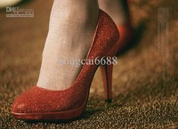 Features the latest waterproof shoes and bridal shoes high-heeled red shoes, gold and silver single
