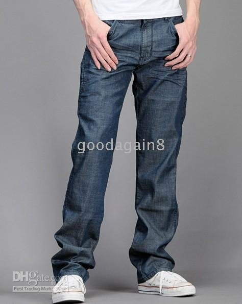 men's Personality knee fashion leisure jeans pants size: 28 29 30 31 32 33 34 36 2pcs new arrived(China (Mainland))