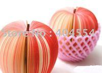 100pcs/lot Fast shipping Mixed Fruit Memo Pad Kudamemo Fruit Red Green Apple Notepad Notepaper