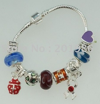 Wholesale alloy jewelry hot sale bracelet 12pcs per lot  mixed style and colors