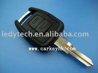 Good quality Opel 2 buttons remote key case with left blade
