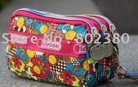 Hot Sale High Fashion Wallet/Purse, Cartoon three-layer zip purse,ladies' coin bag, women's multi-function bag/wallet