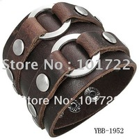 FREE SHIPMENT.leather bracelet,leather cuff,men's jewelry,fast delivery time with high quality.