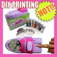 new arrive wholesale  DIY printing nail art stamper kit printer machine  DIY NAIL ART STAMPING PRINTING MACHINE POLISH