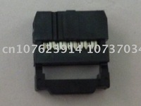 IDC Socket, 20 Way, Center Bump with S/R, Black Color