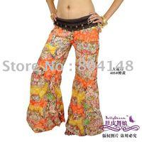 12pcs/Lots  Free Shipping Yoga Belly Dance Flower Pattern Trousers Pants