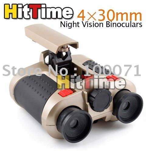 20Pcs/lot New 4 X 30mm Surveillance Scope Night Vision Binoculars [4419|01|20](China (Mainland))