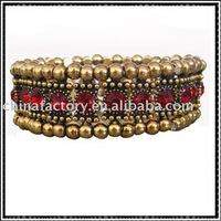one row stretch red round rhinestone alloy bracelets