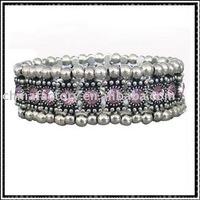 one row stretch alloy round rhinestone bracelets