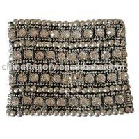 fashion  jewelry  4rows wide elastic zinc alloy bracelet