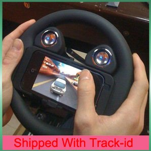 Game wheel speaker Steering Wheel Controller for iphone 4,Game control for iphone4,Free shipping with track-id(China (Mainland))