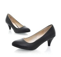 Free shipping New Black Simple High Heels women shoes/size 34-39