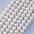 6-7mm Freshwater pearl beads, potato, white, sold per bag of 75 inches