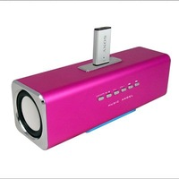 Free shipping 2pcs/lot Music Angel Sound Box UK2 Portable Mini stereo Speaker for Mp3 Mp4 Ipod PC