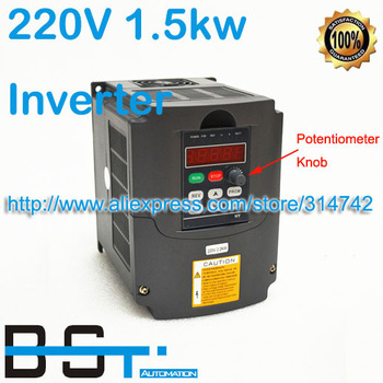 NEW 2HP 1.5KW 7A 110-220V VARIABLE FREQUENCY DRIVE INVERTER VFD 400HZ