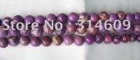 Hot Sale Purple Sea Sediment Jasper Loose Bead Fashion Jewelry Round 18mm