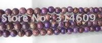 Hot Sale Purple Sea Sediment Jasper Loose Bead Fashion Jewelry Round 10mm