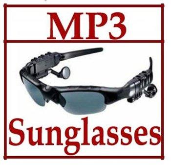 New Black 4GB Headset Sunglass Mp3 Player Sun Glass