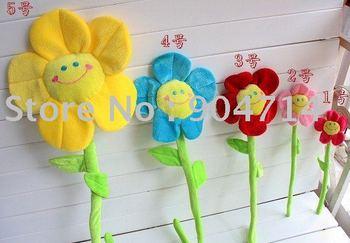 Velvet cartoon flowers/Velvet smile face flowers/cartoon flowers curtain buckle/L48cm*D14/8 color/5 size