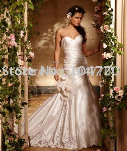 Free Shipping wholesale/retail Hot Sale sexy Sweetheart Wedding Dress Bridal Gown Size 4-30(China (Mainland))