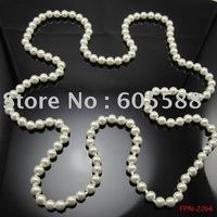 "12pcs/lot, 120cm/47"" Good Quality Imitation Glass Pearl Necklace,Beaded Neckalce Wholesale !"