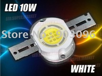 10W Cool White High Power LED; high power led chip+Free Shipping