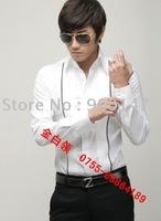 Free Shipping 100PCS began Customization Hottest new Korean man business shirt