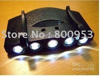 Wholesale - 60pcs 5 LED Cap Light White Light LED Flashlight headlamp for Camping Fishing Running