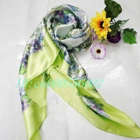 "50pcs Fashion lady girl print silk square scarf shawl Xmas Gift Fall Autumn Winter Spring 35.4""x35.4""inch S03"