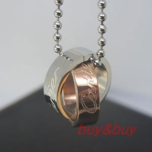free shipping circles pendants.with free necklace as gift. 316L stainless steel material ,CCP-010R.Rosiness/Silver