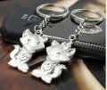 Wholesale 60Pairs/Lot Cat Lover Key chains Key Holder Metal Key Ring Free Gift Free Shipping
