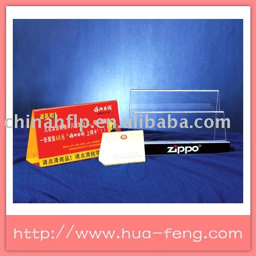 transpartent color acrylic sign display can insert the printed paper cards for price or menu holder(China (Mainland))