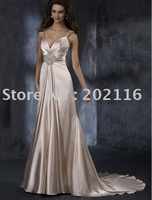 New Fashion Design Mermaid/Trumpet Wedding Dresses Double Shoulder Strap/Backless Satin Court Train Maggie Adorae No.YY126