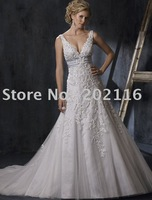 New Fashion Design Mermaid/Trumpet Wedding Dresses Sleeveless/Backless Satin Court Train Maggie Adorae No.YY130