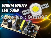 20W High Power Warm White 1000LM LED Light + AC Driver