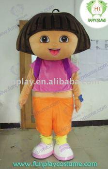 2011 adorable Dora Cartoon mascot